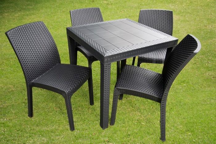 Sala de plastico para exterior terraza o jardin outdoor for Mesas de jardin de plastico