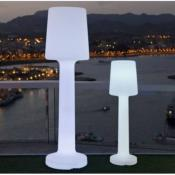 Lampara de Pie para Exterior o Interior NEW GARDEN modelo: CARMEN Luz LED fria Color: Blanco